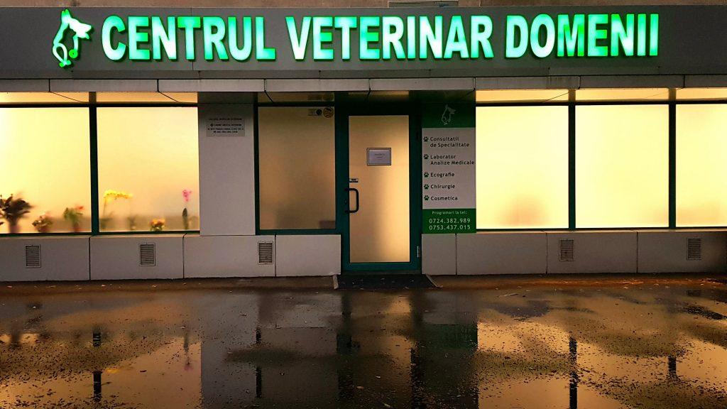 Intrare Centru Veterinar Domenii , la Bulevardul Ion Mihalache , langa Piata Domenii